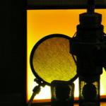 vocal mic silhouette by dave kobrehel